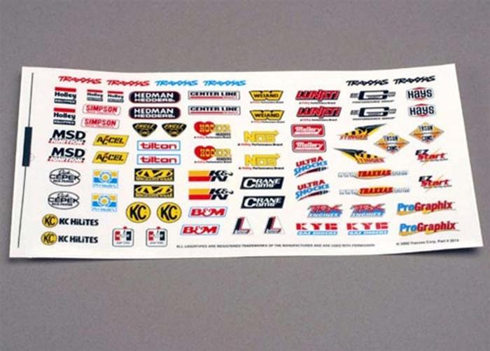 Traxxas Decal Sheet (racing sponsors), 2514