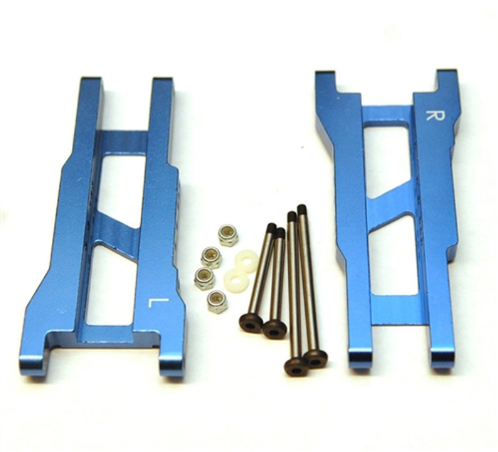 ST Racing Heavy Duty Aluminum Rear A-Arm Set with Steel Hinge-Pins - Blue, 2555XB