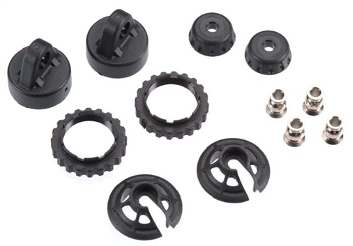 Traxxas Caps and Spring Retainers for GTR Long & XX-Long Shocks, 7468