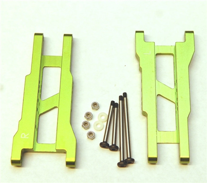 ST Racing Heavy Duty Aluminum Rear A-Arms with Lock-Nut Hinge-Pins - Green, 3655XG