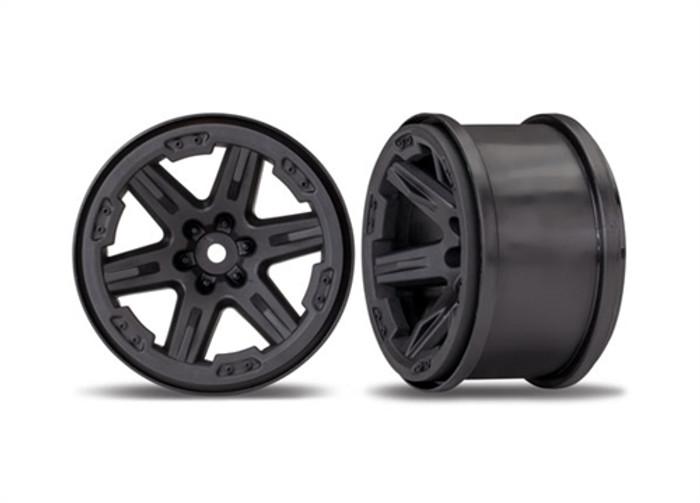 "Traxxas 2.8"" Black RTX Wheels for Rustler 4X4, 6772"