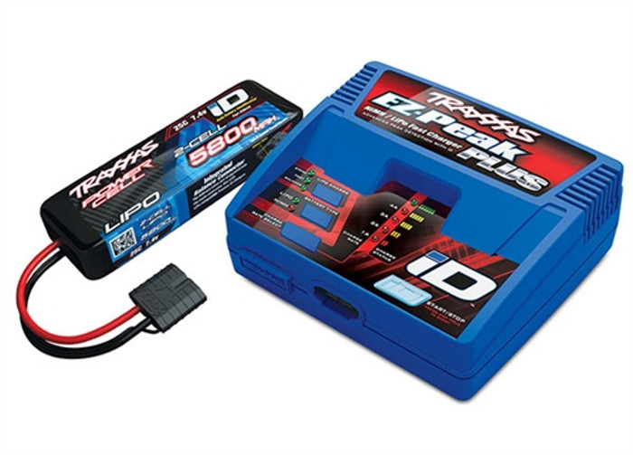 Traxxas 2S LiPo Battery and Charger Combo Set, 2992