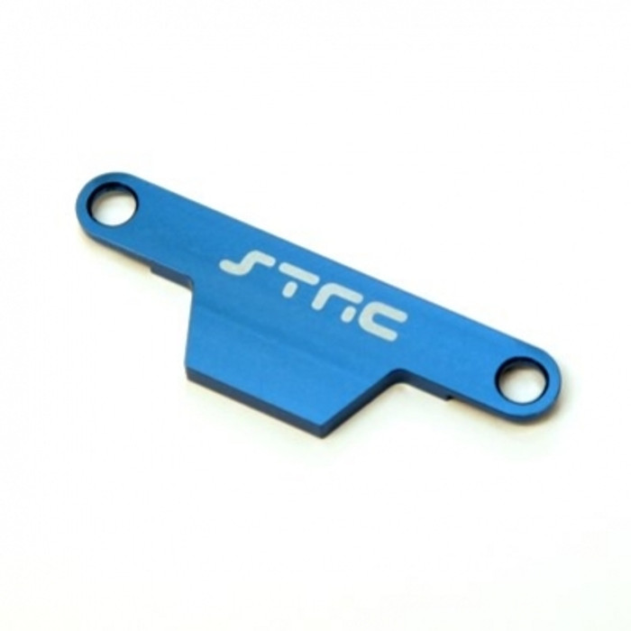 ST Racing Concepts Battery Hold-Down Plate - Stampede/Bigfoot (Blue), ST3627XB