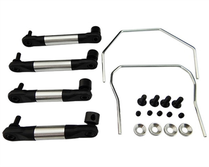 Hot Racing Front & Rear Sway Bar Kit for Traxxas Slash/Rally 4X4