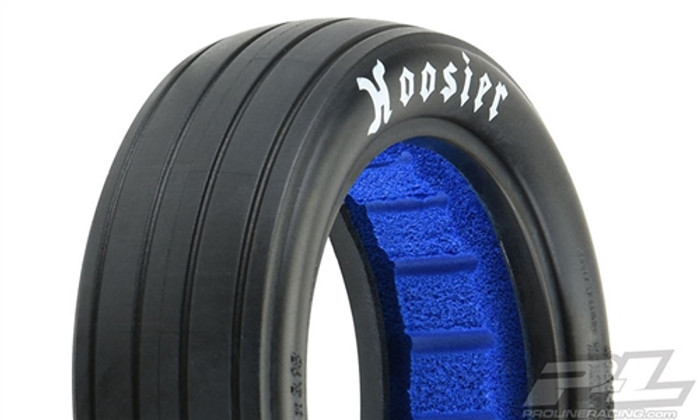 "Pro-Line Hoosier Drag 2.2"" 2WD MC (Clay) Drag Racing Front Tires for Buggy Wheels, 10158-17"