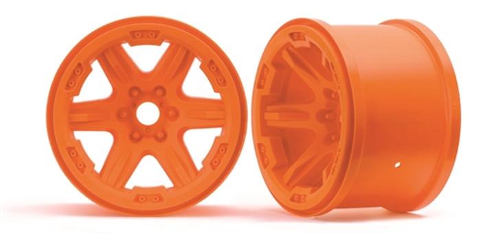 "Traxxas 3.8"" Orange Wheels (17mm spline) for New E-Revo, 8671A"