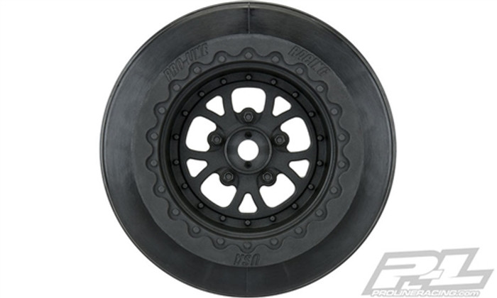 "Pro-Line Pomona Drag Spec 2.2""/3.0"" Black Wheels, 2776-03"