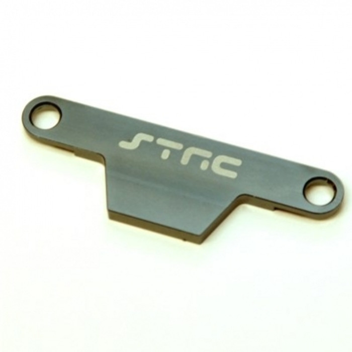ST Racing Concepts Battery Hold-Down Plate - Rustler/Bandit (Gun Metal), ST3727AGM
