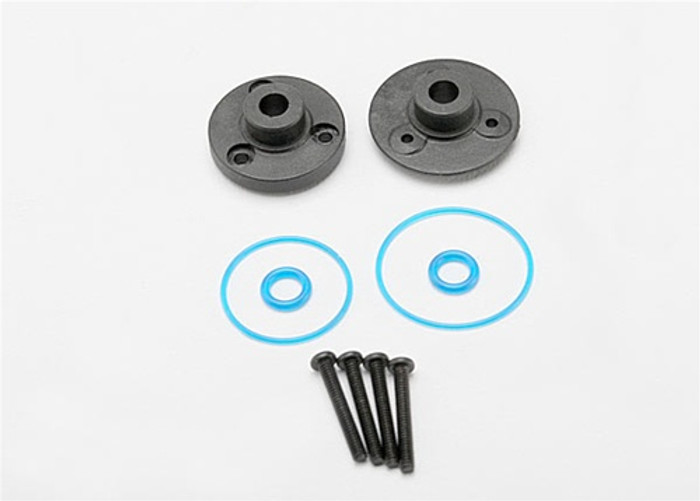 Traxxas Differential Cover Plates, Gaskets, and O-Rings, 7080