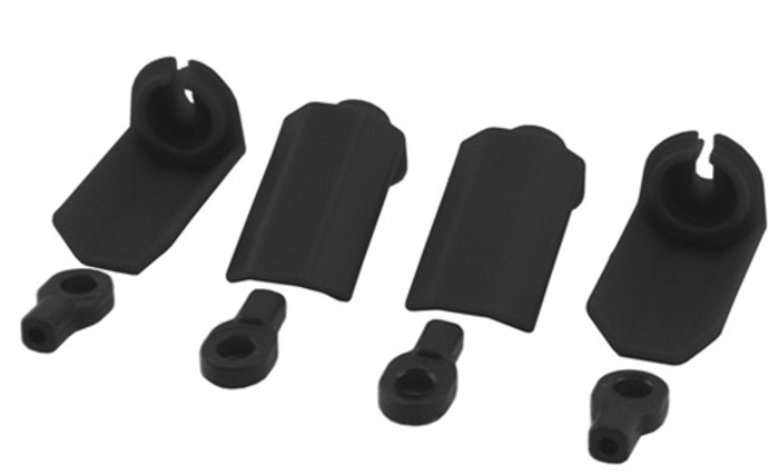 RPM Shock Shaft Guards for Traxxas 1/10 Vehicles - Black, 80402