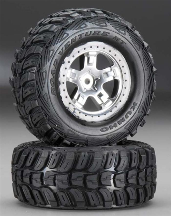 Traxxas Kumho Tires & Black Beadlock Wheels (4WD front/rear, 2WD rear only), 5880