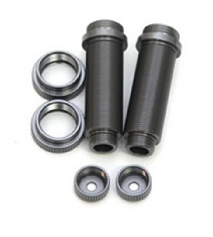 ST RACING CNC Machined Aluminum Threaded Rear Shock Bodies for Slash 4x4 and others (Gun Metal), 3766XGM