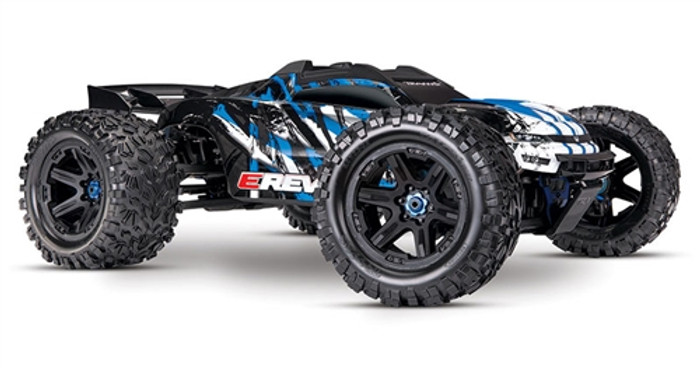 Traxxas E-Revo 2.0 Brushless Next Gen Monster Truck - Blue, 86086-4