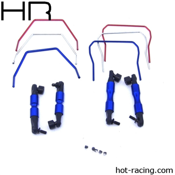 Hot Racing Front & Rear Sway Bars for Traxxas Slash/Rally 4X4