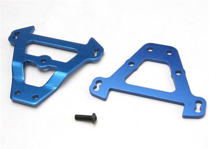 Traxxas Blue Aluminum Bulkhead Tie Bars (front & rear) - Revo/Slayer/Summit, 5323