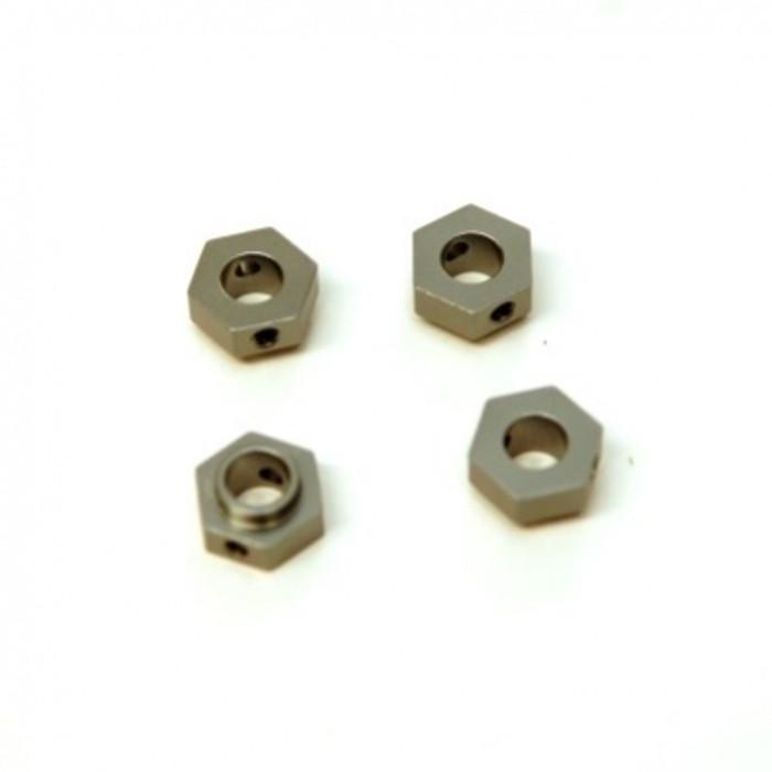 ST RACING Aluminum Hex Adapters for TRX-4 (Gun Metal), 8269GM