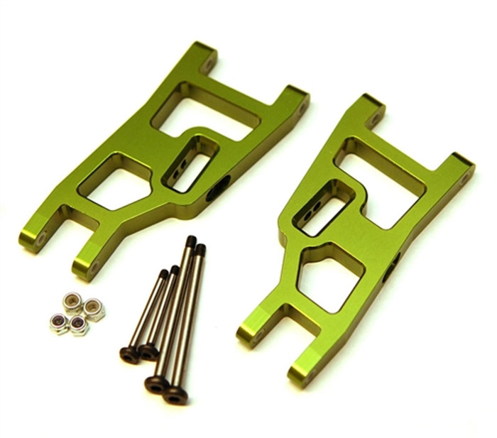 ST Racing Heavy Duty Aluminum Front A-Arm Set with Steel Lock-Nut Hinge-Pins - Green, 3631XG