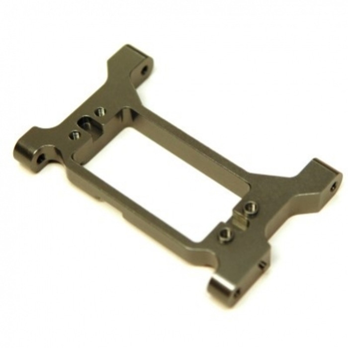 ST RACING Aluminum One-Piece HD Servo Mounting Bracket/Chassis Brace for TRX-4 (Gun Metal), 8239SGM