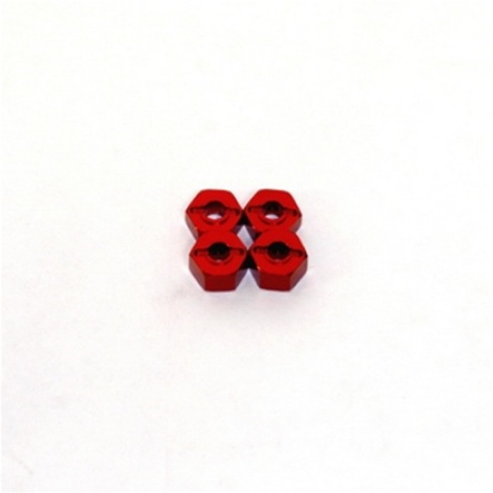 ST Racing Concepts 12mm Lock-Pin Style Aluminum Wheel Hex (Red) for Stampede/Rustler/Bandit/Slash, 3654-12R