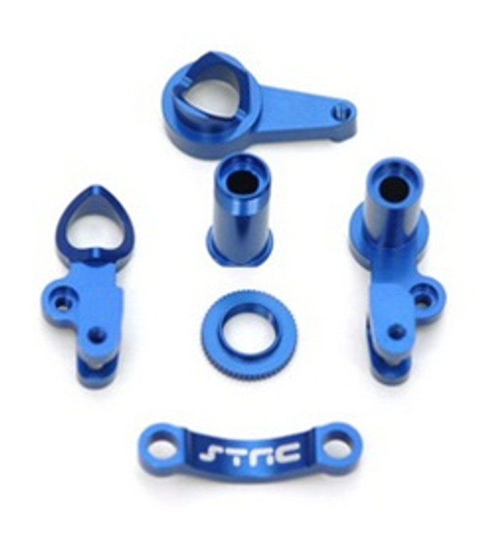 ST RACING CNC Machined Aluminum Steering Bellcranks Slash/Stampede 4x4 (Blue), 6845B