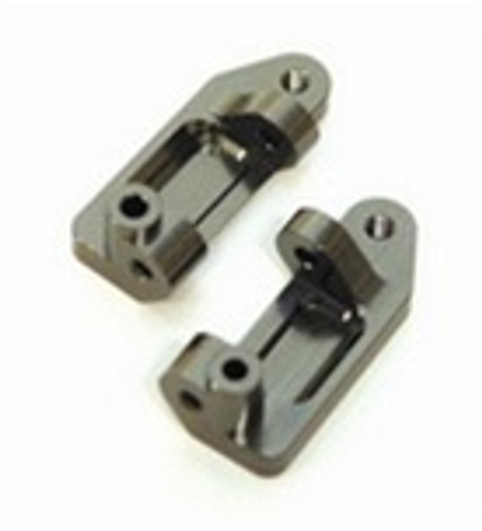 ST RACING CNC Machined Aluminum Caster Blocks (Gun Metal), 3632GM