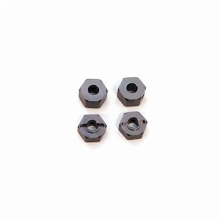 ST Racing Concepts 12mm Lock-Pin Style Aluminum Wheel Hex (Gun Metal) for Stampede/Rustler/Bandit/Slash, 3654-12GM