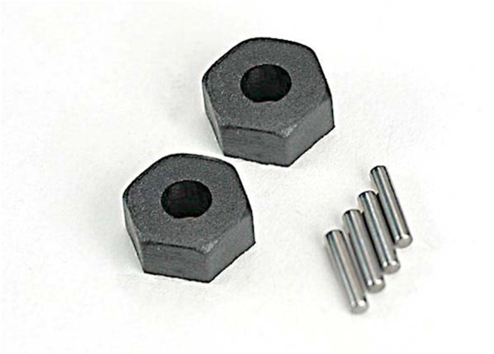 Traxxas Wheel Hubs (hex w/pins, 2), 1654