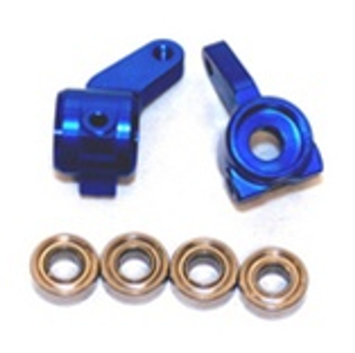 ST RACING CNC Machined Aluminum Oversized Front Knuckle (Blue), 3636B