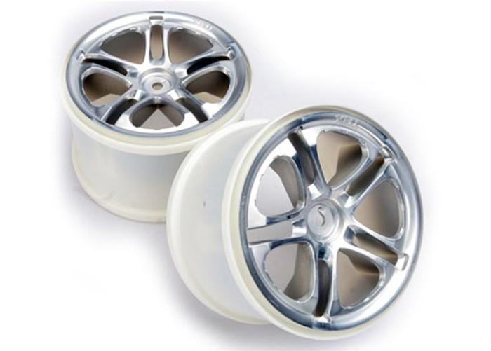 "Traxxas Wheels Split Spoke 3.8"" Satin (fits Revo/Maxx series), 5172"