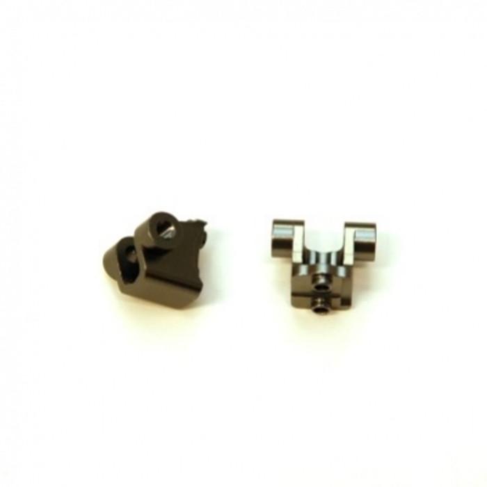 ST RACING Aluminum Rear Lower Shock Mounts for TRX-4 (Gun Metal), 8227RGM