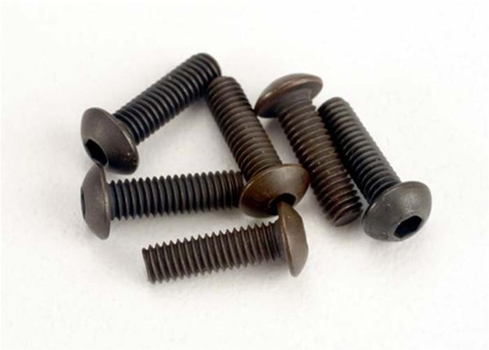 Traxxas Button-Head Machine Screws, 3x10mm, 2577