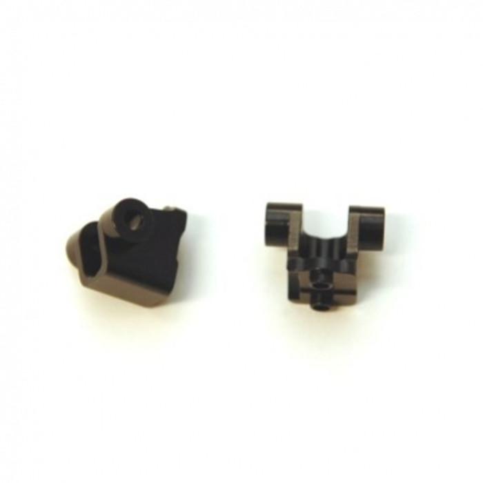 ST RACING Aluminum Rear Lower Shock Mounts for TRX-4 (Black), 8227RBK