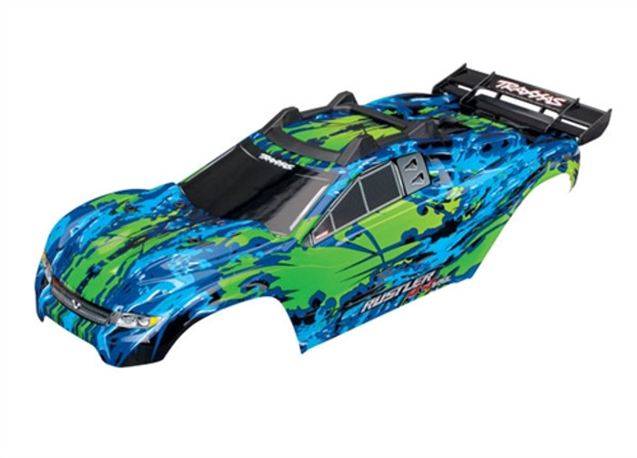 Traxxas Green Body for Rustler 4X4 VXL, 6717G