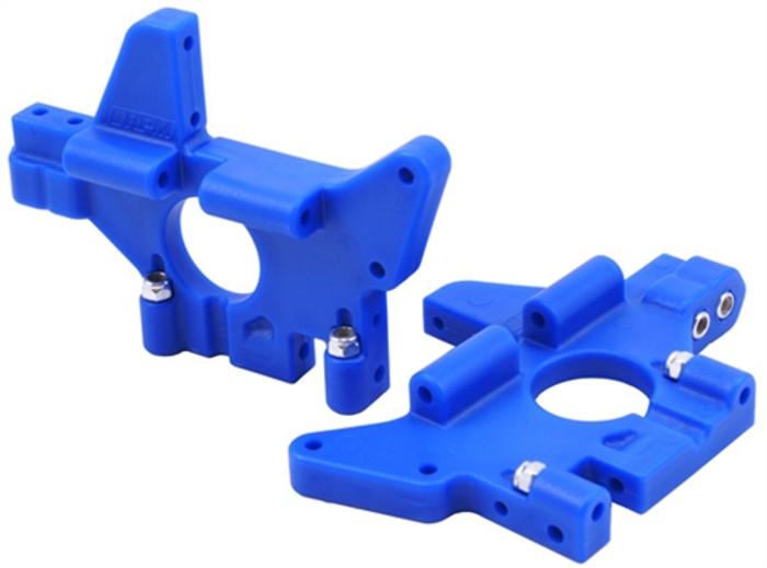 RPM Rear Bulkheads for the Traxxas T/E-Maxx - Blue, 81075