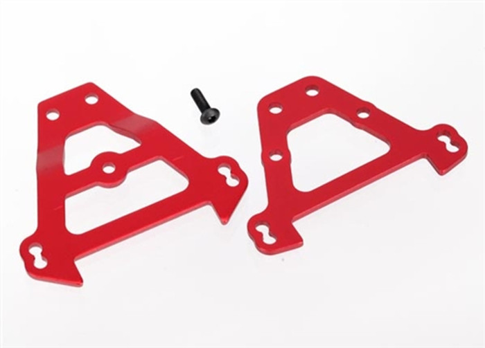 Traxxas Red Aluminum Bulkhead Tie Bars (front & rear), 5323R