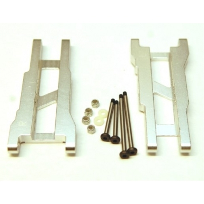 ST Racing Heavy Duty Aluminum Rear A-Arm Set with Steel Hinge-Pins - Silver, 2555XS