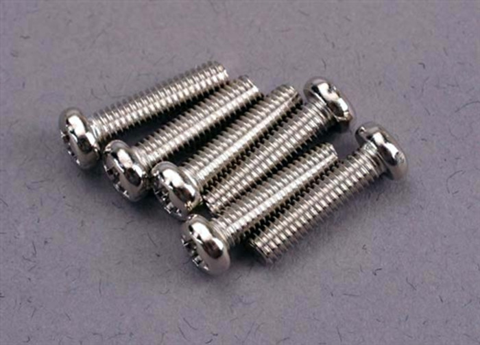 Traxxas 3x12mm Roundhead Machine Screws, 2561