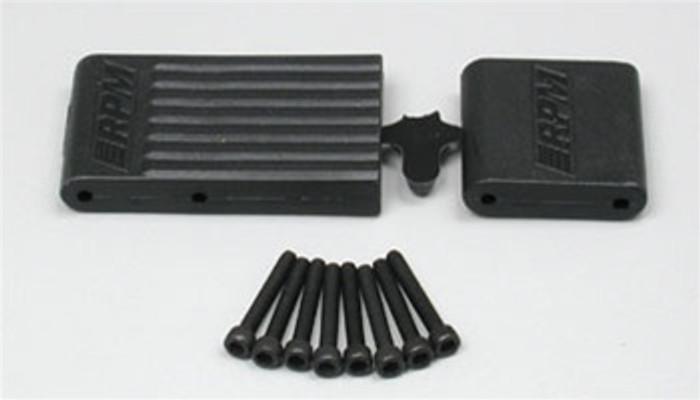 RPM Bulkhead Braces for the Traxxas T/E-Maxx - Black, 80152