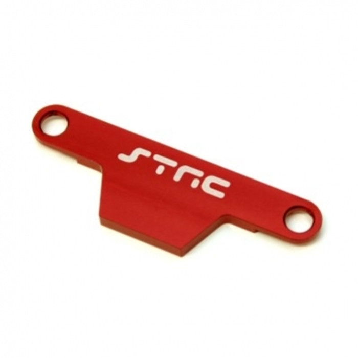 ST Racing Concepts Battery Hold-Down Plate - Rustler/Bandit (Red), ST3727AR