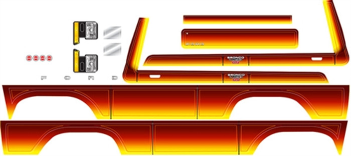 Traxxas Sunset Ford Bronco Decal Sheet for TRX-4 Bronco, 8078