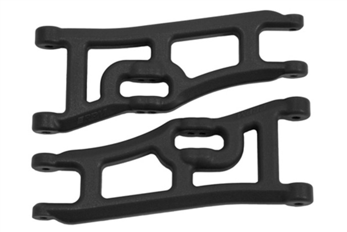 RPM Wide Front A-Arms for Traxxas Electric Rustler/Electric Stampede 2WD - Black, 70662