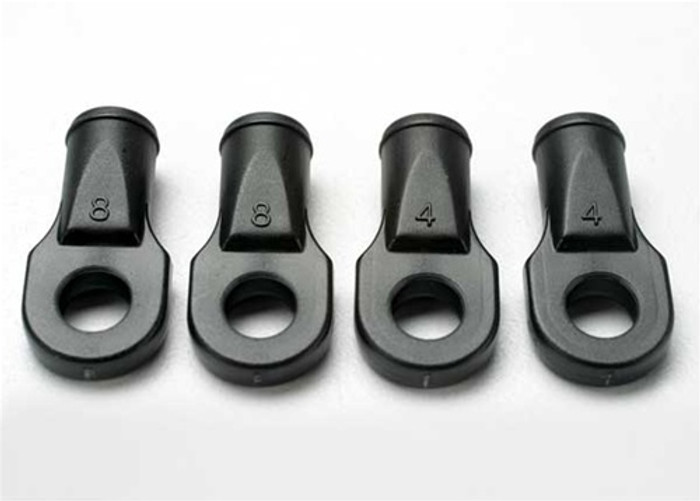 Traxxas Large Rod Ends, Revo/Summit/Slayer (for rear toe link only) (4), 5348