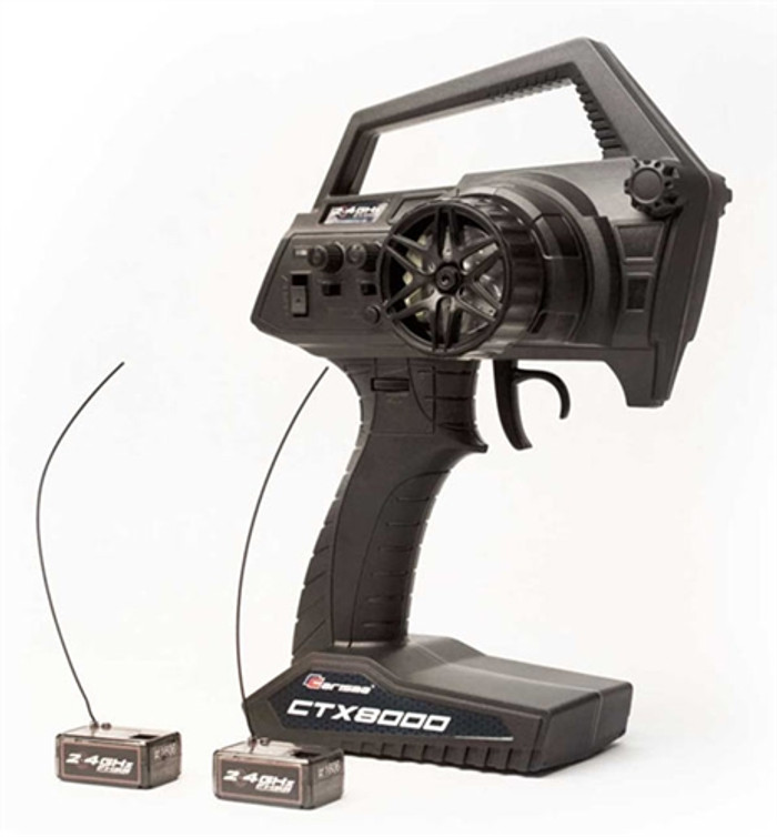 Carisma CTX8000 2.4GHz FHSS 2-Channel Pistol Radio w/2 Receivers, 15644