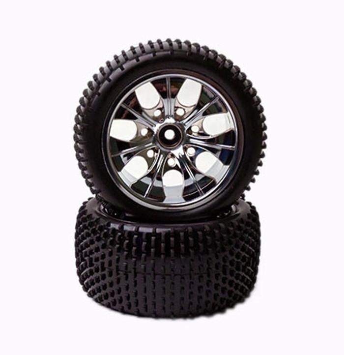 Rage R10ST Stadium Truck Rear Tire and Wheel Set, C1050