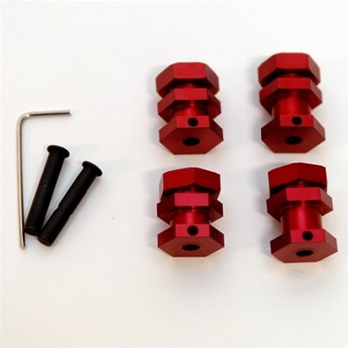 ST Racing Concepts Performance 17mm Hex Conversion Kit for Slash/Stampede/Rustler/Bandit (Red), 3654-17R