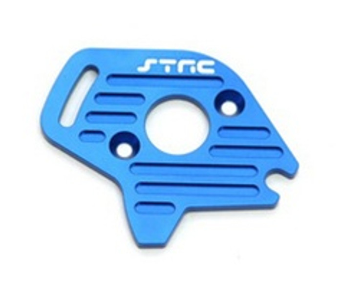 ST RACING CNC Machined Aluminum Finned Motor Plate Slash/Stampede 4x4 (Blue), 6890B