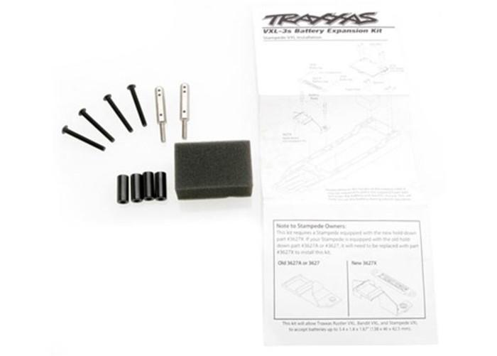 Traxxas Battery Tray Expansion Kit (Rustler, Bandit, Stampede), 3725X