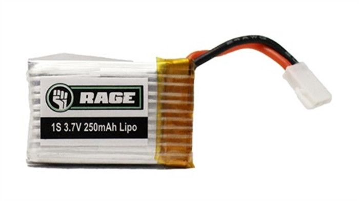 Rage X-Fly VTOL 3.7V 250mAh LiPo Battery, A1163