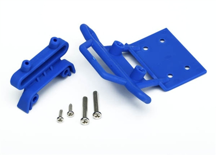 Traxxas Front Bumper and Mount Blue - Monster Jam, 3621X