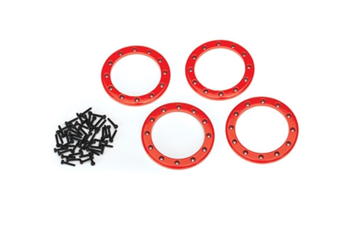 "Traxxas Red Beadlock Rings 2.2"" for TRX-4, 8168R"